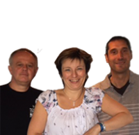 Laura, Stephano & Stephano - Camping Le Mât - Bretagne