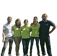 Vanina, Lucie, Nicolas, Sophie et Laetitia - Camping Le Paluet  - Bourgogne