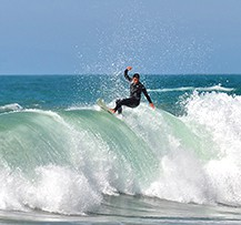 camping pays basque surf