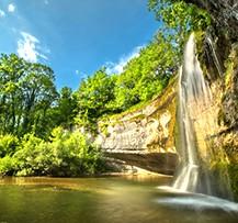 camping jura cascade