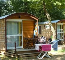 Camping in Frankrijk in een woonwagen