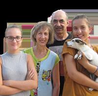 Éliane, Éric, Julia, Pauline (& Fifi) Fernandes - Camping Le Temps de Vivre - Aquitaine