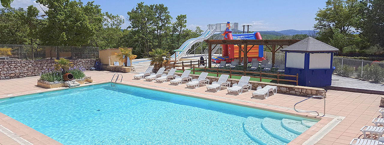 Camping l'Épi Bleu toboggans aquatiques et piscine