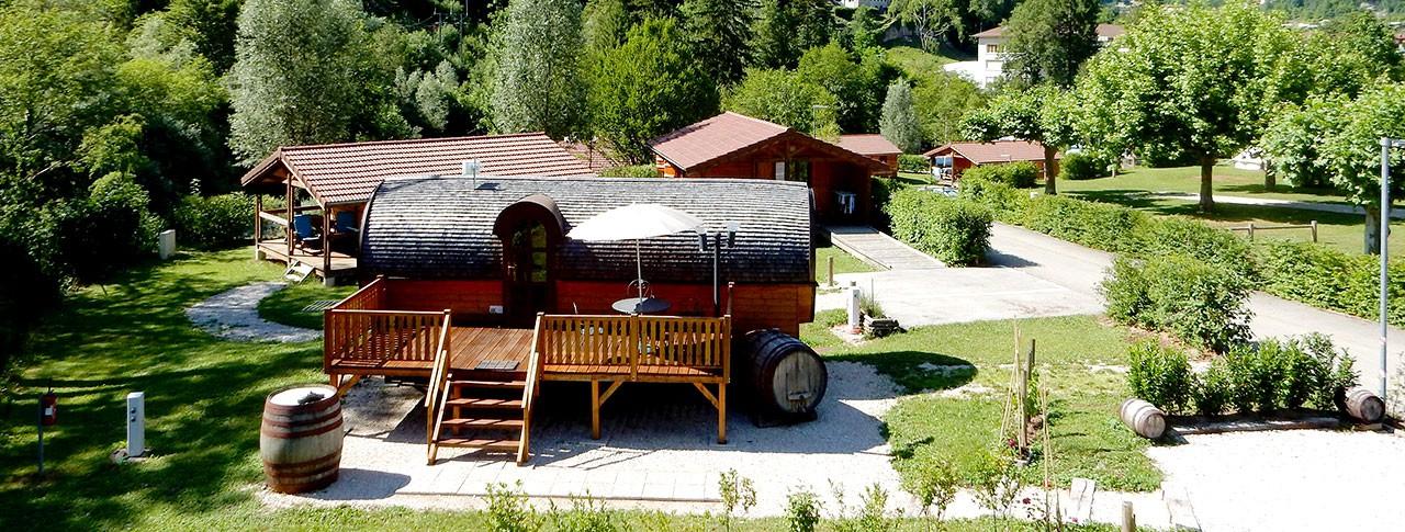 camping Le Martinet roulotte en Franche-Comte