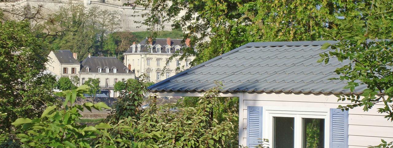 camping L'Île d'Offard vue sur château
