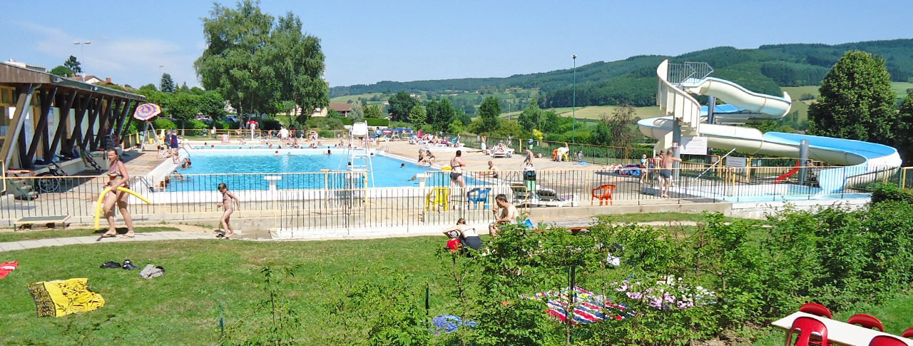 Camping Le Paluet piscine toboggans aquatiques