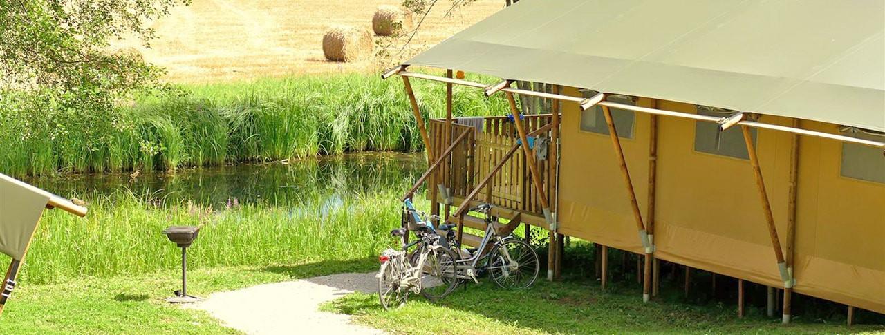 camping Domaine du Buisson location de bungalows toilés de luxe