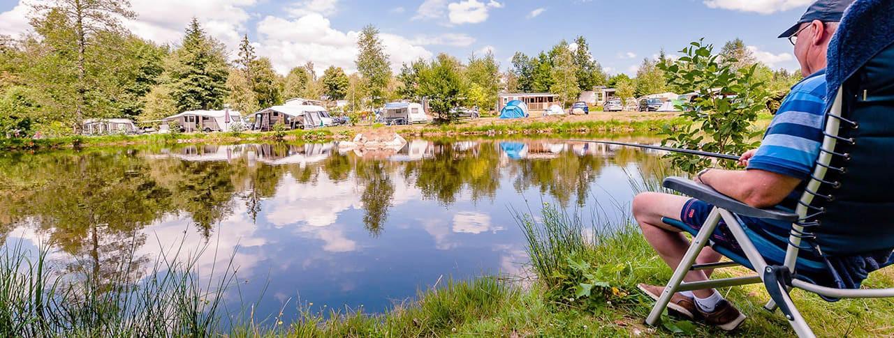Camping La Sténiole étang pêche