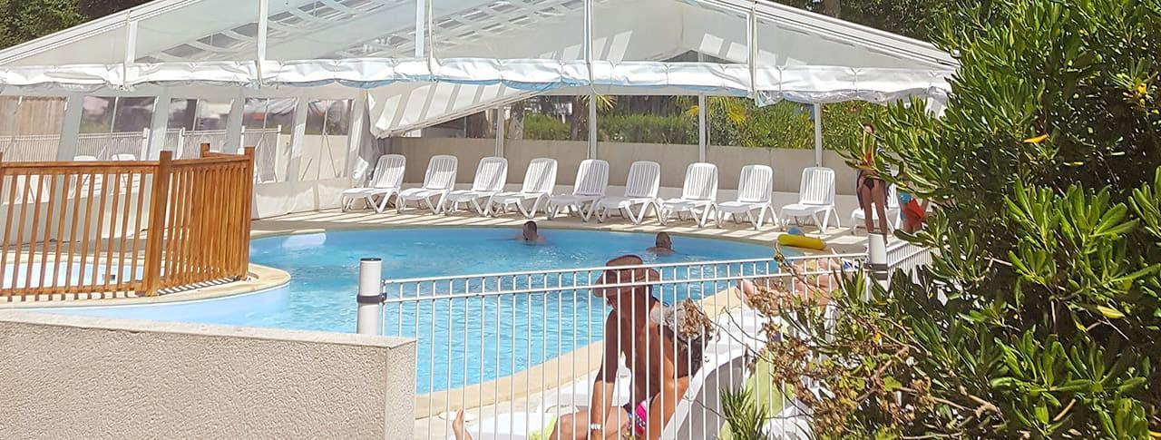 Camping La Cailletière piscine couverte chauffée