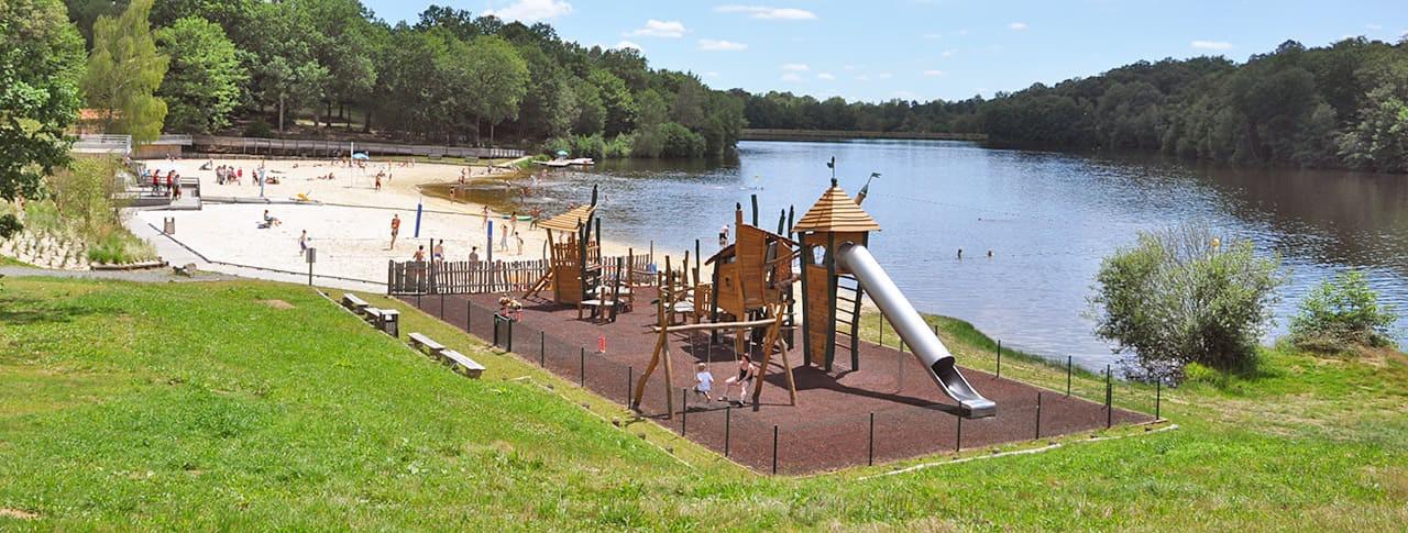 camping rouffiac lac baignade et aire de jeux