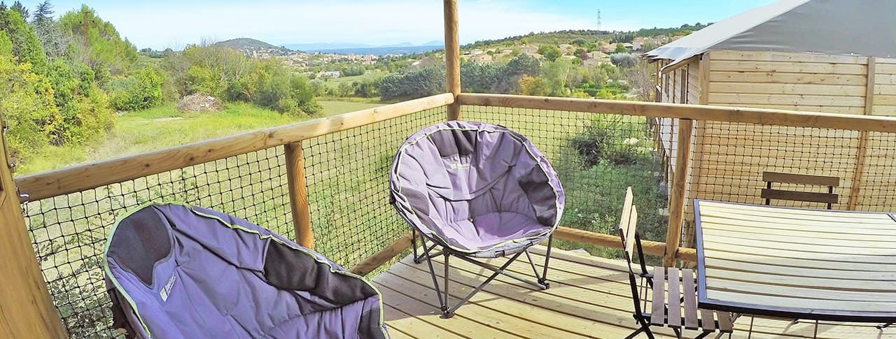 Camping Provence Vallée Cabanes sur pilotis Manosque