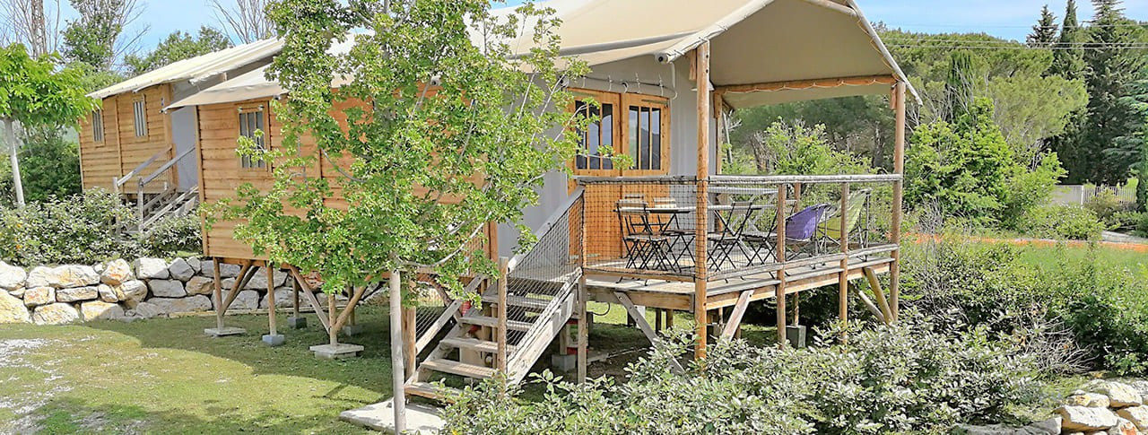 Camping Provence Vallée Cabane Lodge 4 saisons