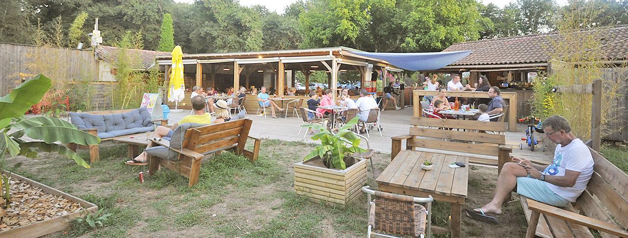 Camping La Clairière restaurant Saint-Paul-en-Born