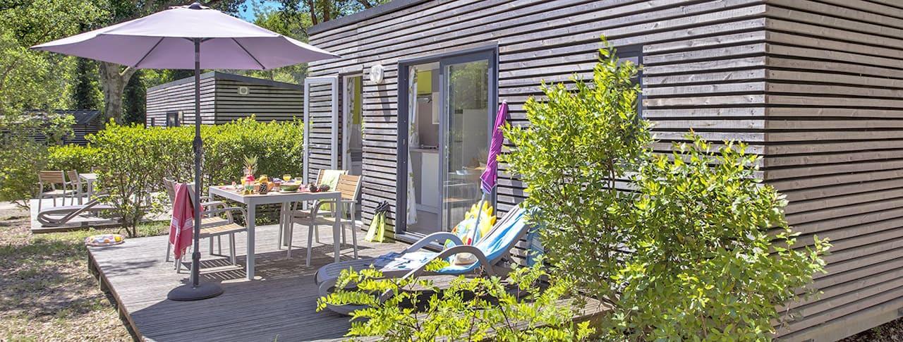 Camping Les Deux Etangs mobil-homes de luxe à Seignosse