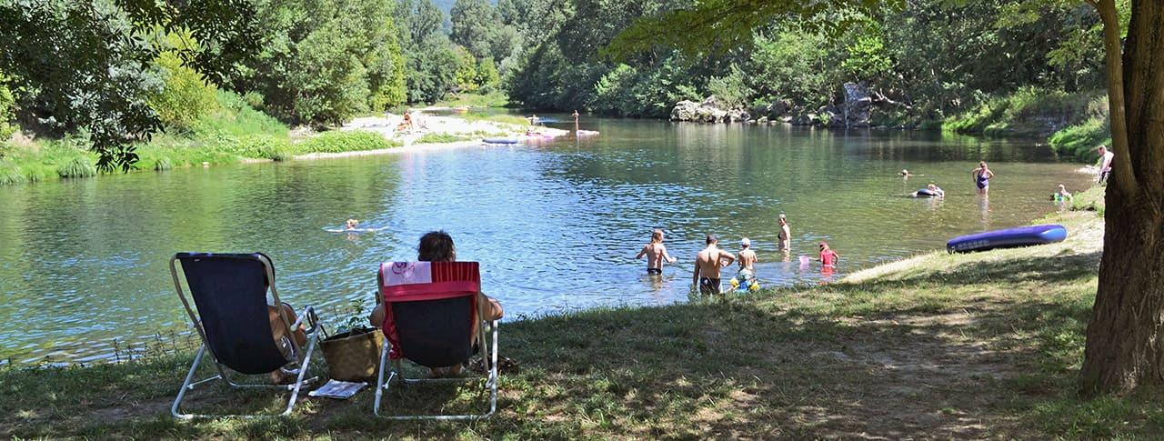 camping Le Saint Michelet Gard rivière Cèze