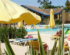 camping Bimbo Biscarosse piscine extérieure chauffée