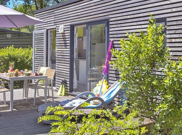 Camping Les Deux Etangs mobil-homes de luxe à Seignosse-3